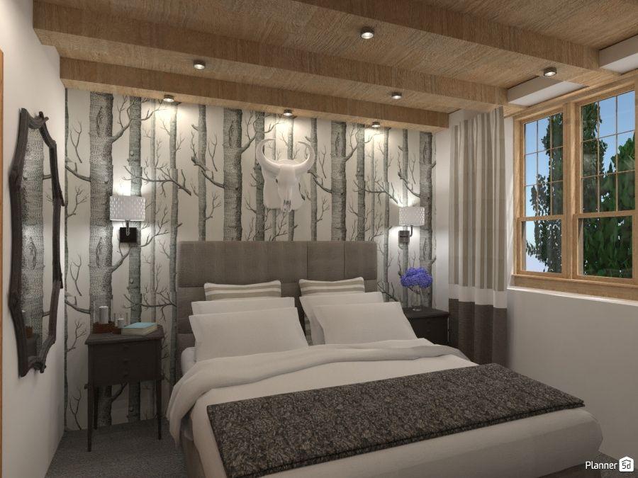 Scandinavian style, bedroom interior, PLANNER 5D | Bedroom ...