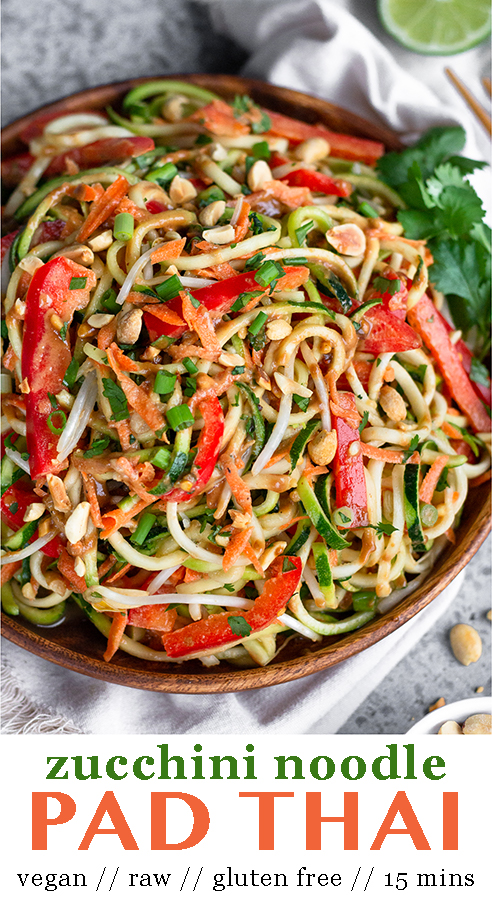 raw pad thai salad  recipe  vegan pad thai sauce thai