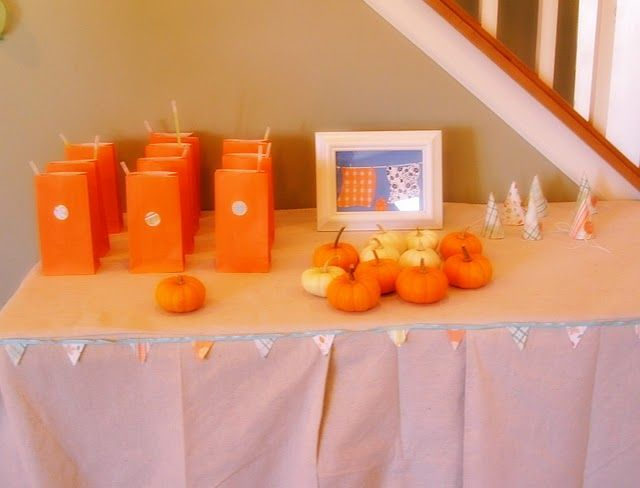 Teeny tiny fall party...for a small playdate?