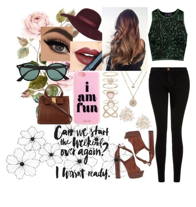 """""""Ready For The Weekend."""" by destinee-hogeland ❤ liked on Polyvore featuring Opening Ceremony, Current/Elliott, Aquazzura, Topshop, Fiebiger, LC Lauren Conrad, Accessorize, Cara, Ray-Ban and women's clothing"""