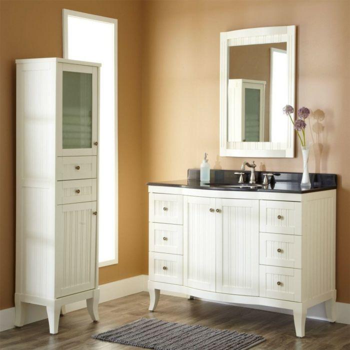 wandfarben 2016 trendfarbe goldocker pastell farbtöne badezimmer - badezimmer vintage