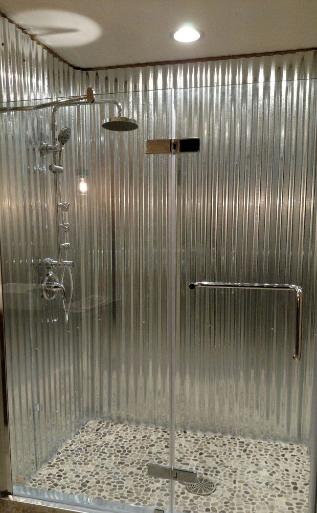 Rustic Corrugated Metal Spa Shower For The Hill