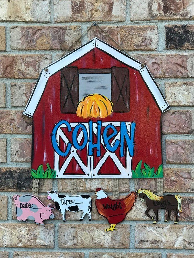 Barn door hanger, farm door hanger, hospital door sign ...