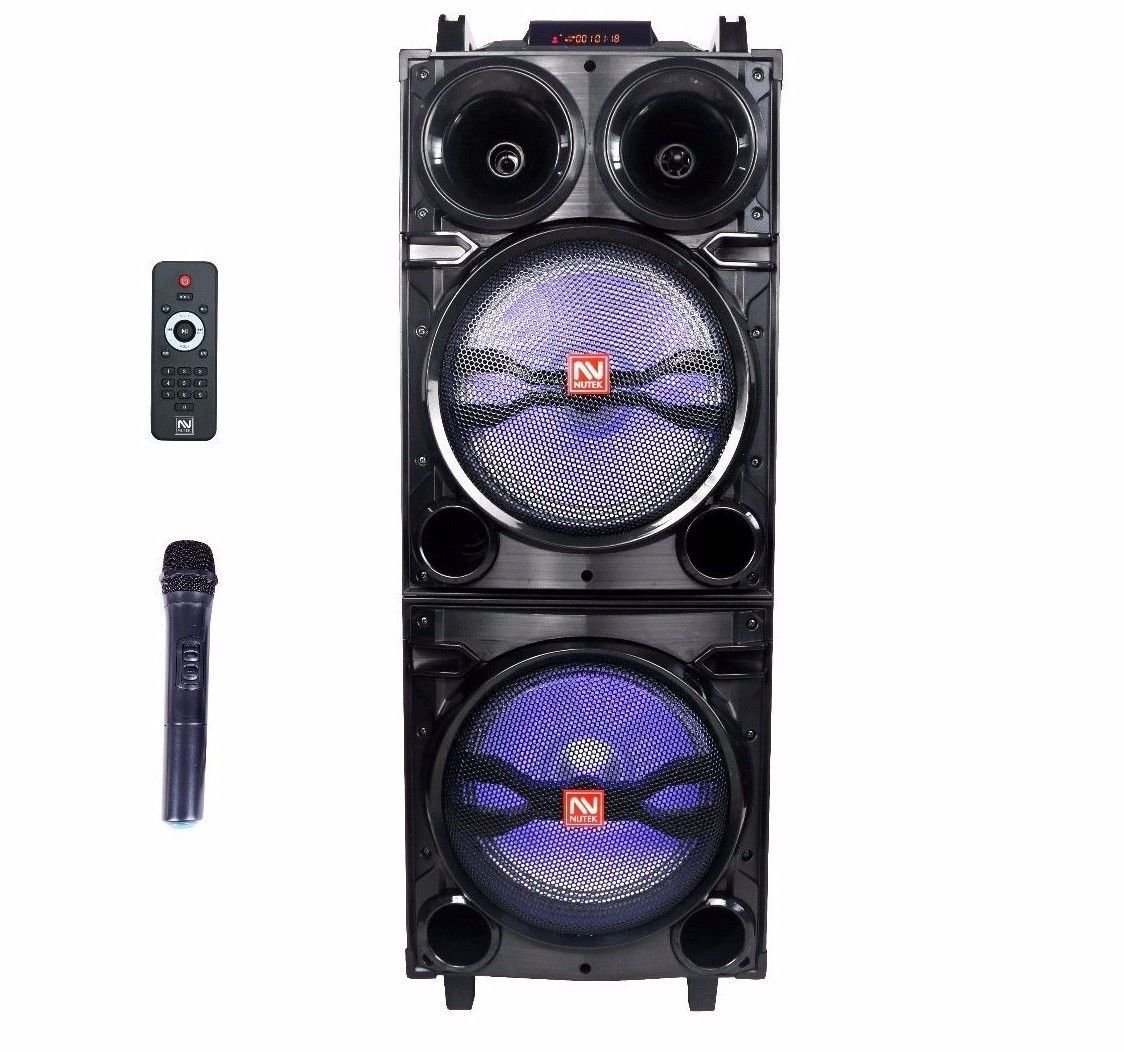 Dual 10 Ac Powered Dj Party Speaker Bluetooth Outdoor Super Bass Light Mobile Wifi Hotspot Hotspot Wifi Bluetooth