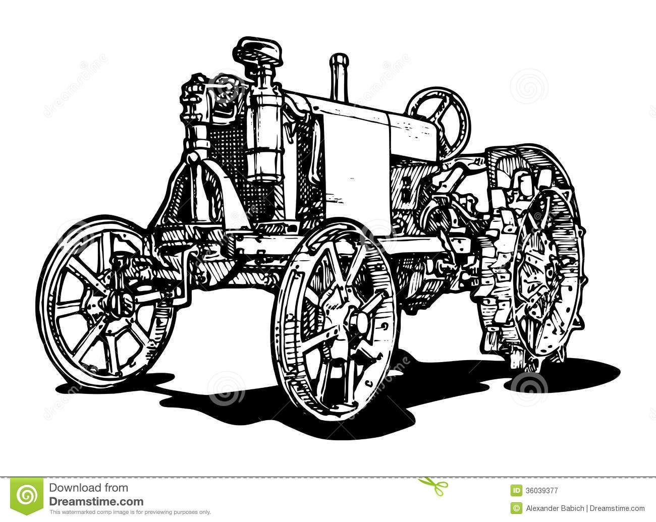 vintage tractor clipart - Google Search | Drawings, Vector ...