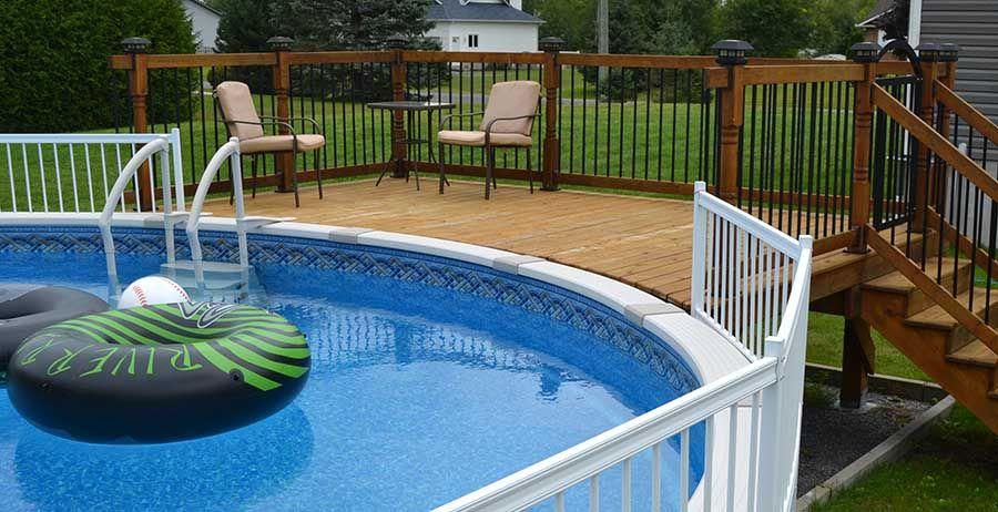 Easy deck footings for above ground pool decks in 2020