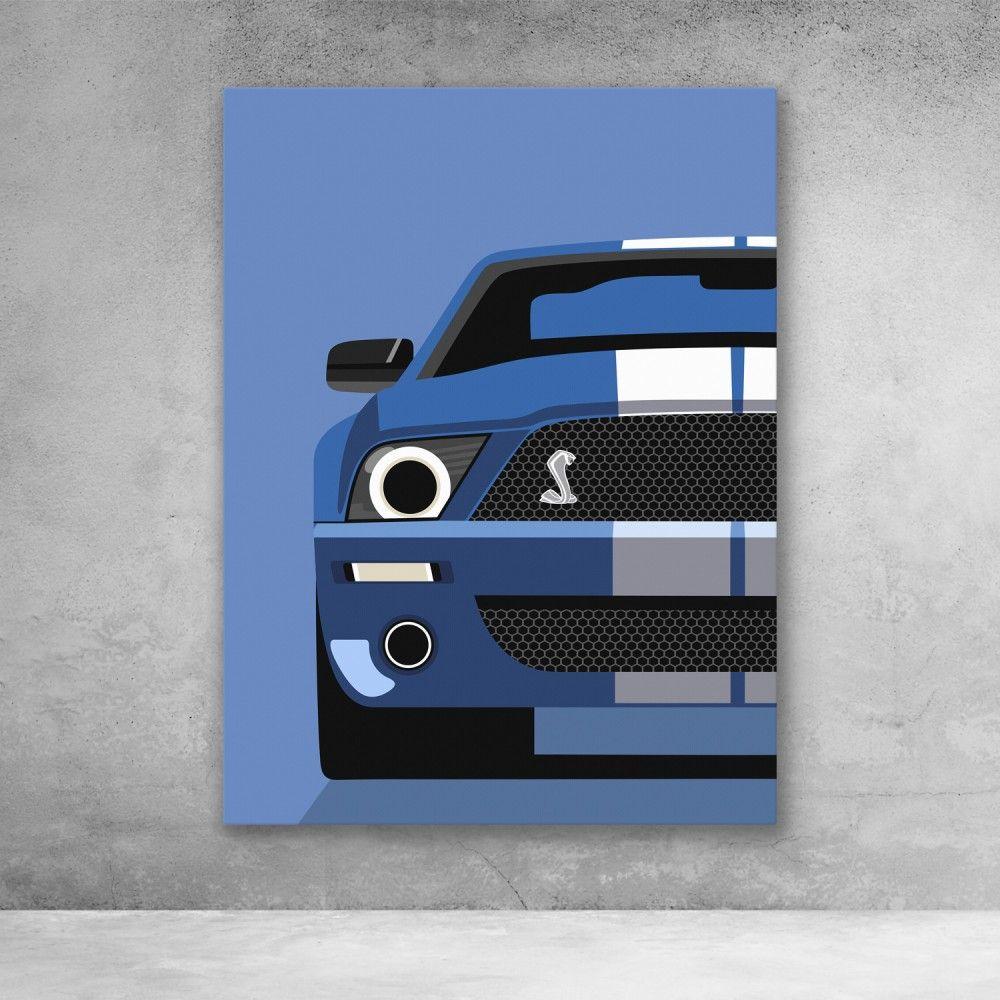 Mustang Shelby Gt500 Sports Car Pop Art Modern Canvas Wall Art Modern Wall Art Canvas Simple Canvas Paintings Diy Canvas Art
