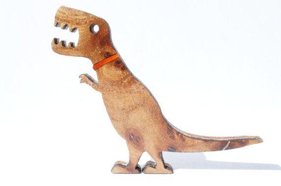 Pet Tyrannosaurus Rex T Rex Jurassic Dinosaur Walnut Brooch Dinosaur Pendant Tyrannosaurus Rex Pets