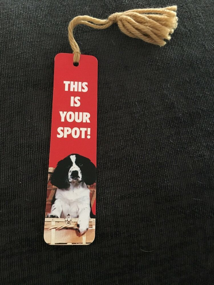 Vtg Dog This Is Your Spot BOOKMARK Sunshine Thoughts