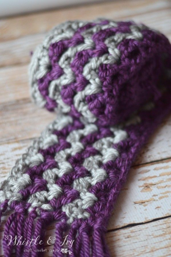 Ric Rac Striped Scarf Make This Quick And Chunky Crochet Scarf