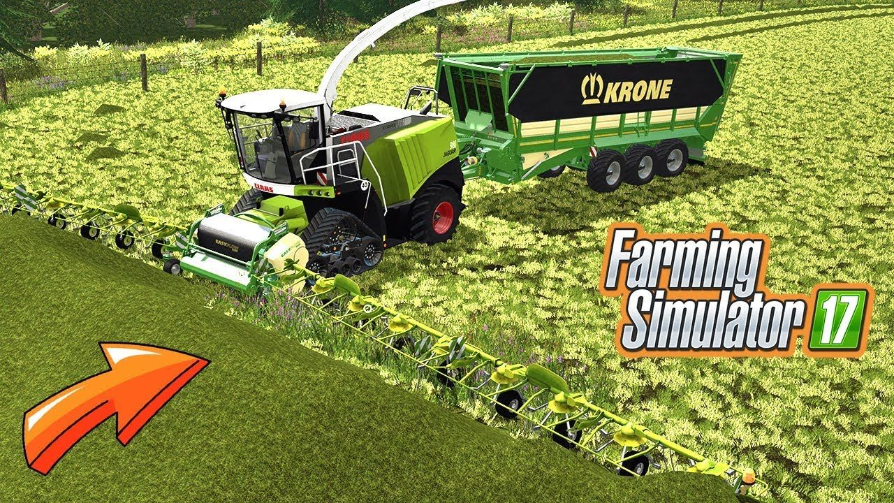 Claas Jaguar Forage Harvester VS Huge Pile of Grass