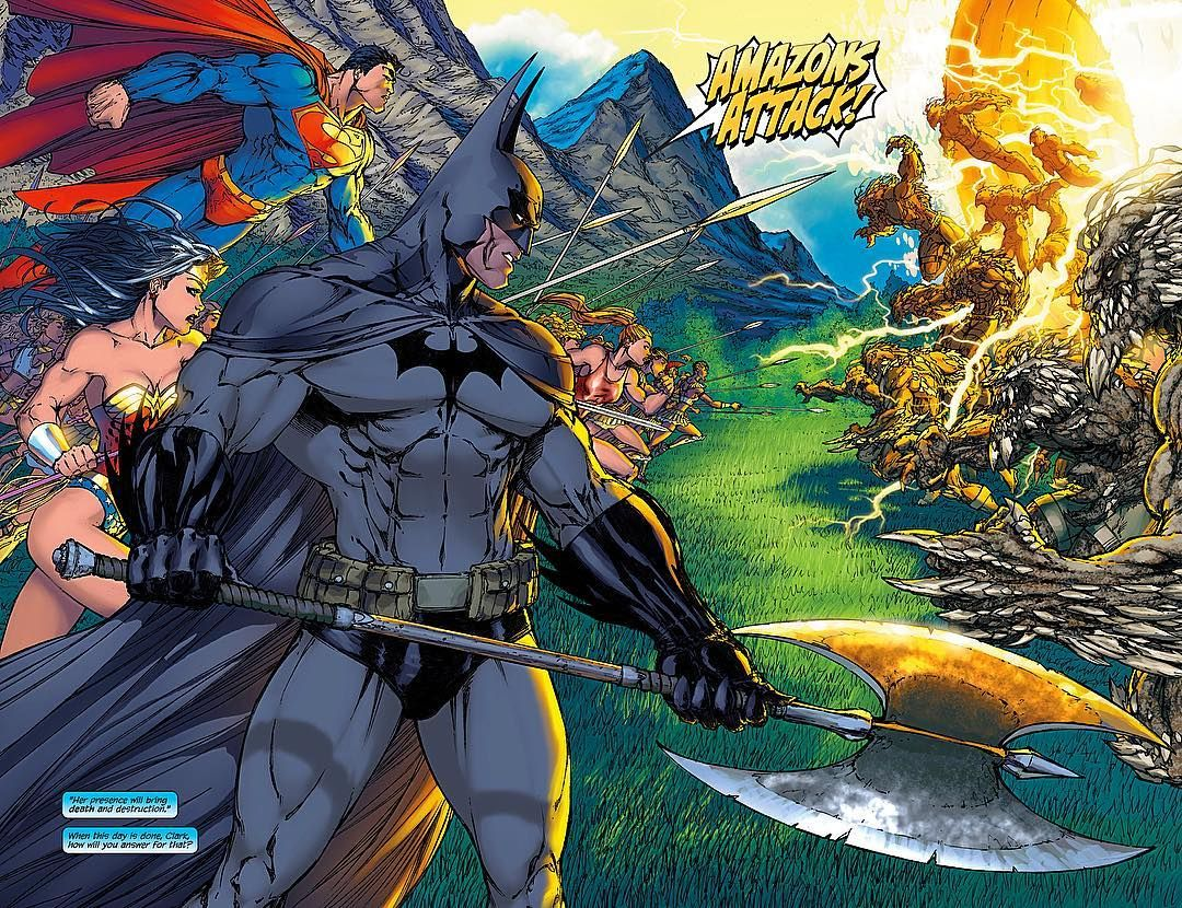 A Little Math Equation For You Guys Superman Batman Wonder Woman Supergirl Amazons Doomsday Batman And Superman Michael Turner Batman Wonder Woman