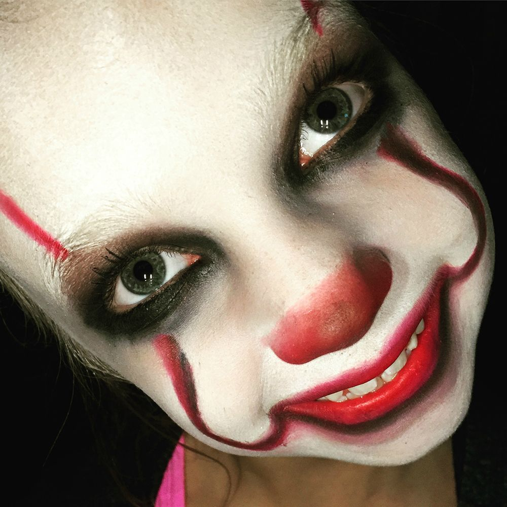 IT Movie Pennywise Makeup Tutorial for Kids Halloween