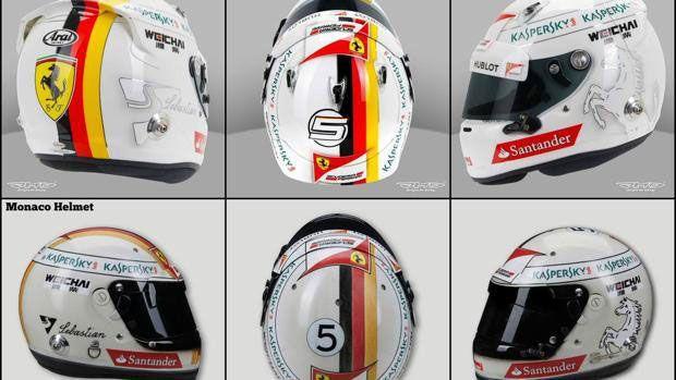 Vettel cambia el casco en Mónaco