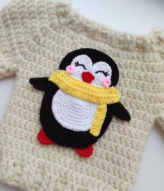 PATTERN Penguin Applique Crochet Pattern PDF Instant Download | Etsy
