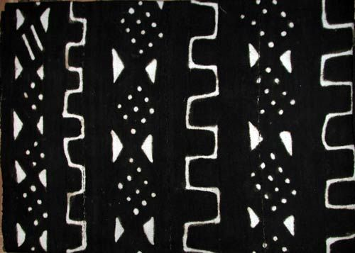 authentic black and white mudcloth