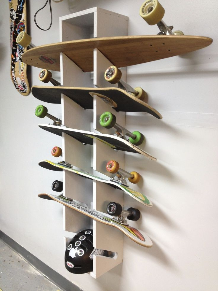 For the garage Skateboard Rack I made.