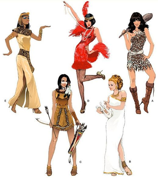 CLEOPATRA FLAPPER Halloween Costume Sewing Pattern - Cave Woman ...