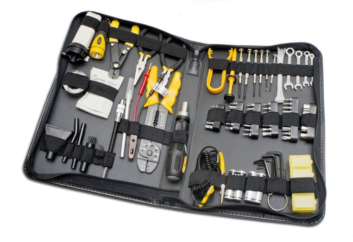 amazon com 100 piece computer technician tool kit for repairing rh pinterest com wiring tools for automotive harness building Electrical Wiring Tools