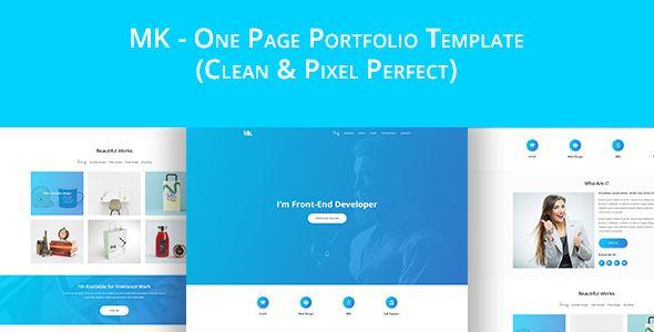 MK - Personal Portfolio PSD template | Personal portfolio, Psd ...