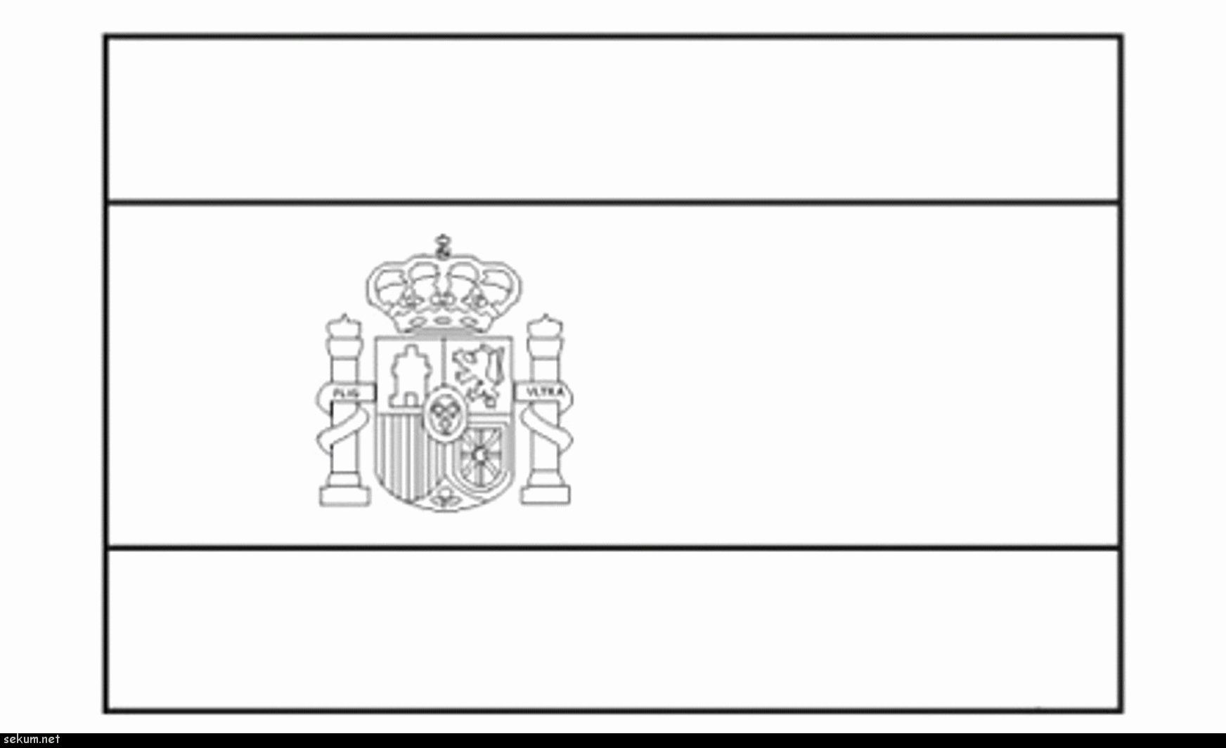 Coloring Page Flag Spain 2 Flag Coloring Pages Coloring Pages