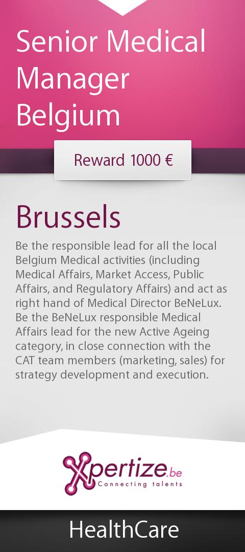 Job Senior Medical Manager Belgium  Other Jobs