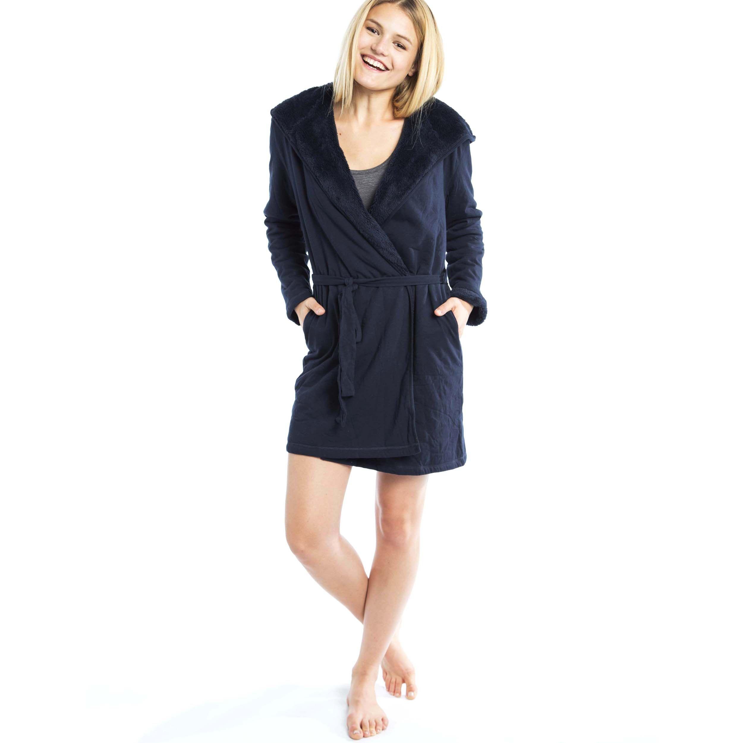 Robe de chambre coton avec teddy - Veritas