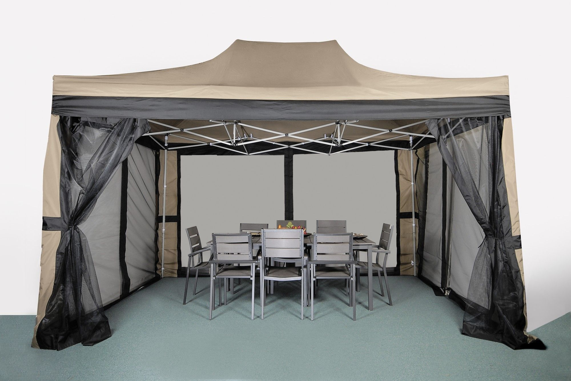 Pop-Up 15 Ft. W x 10 Ft. D Steel Gazebo