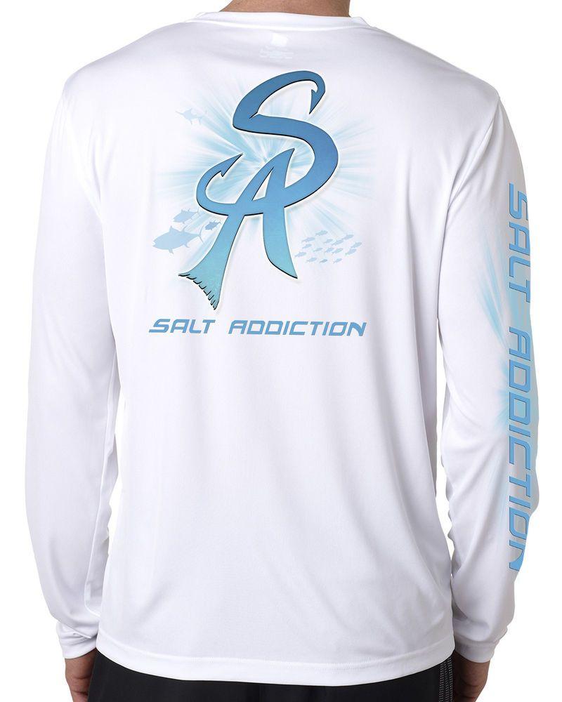 Salt Addiction long sleeve microfiber saltwater fishing t shirt uv upf 50 marlin
