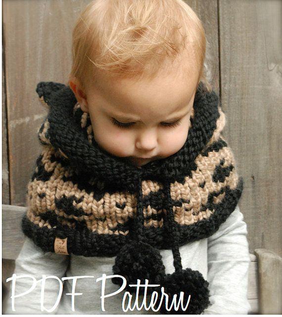 Knitting PATTERN-The Lexington Leopard Hood (12/18 months, Toddler ...