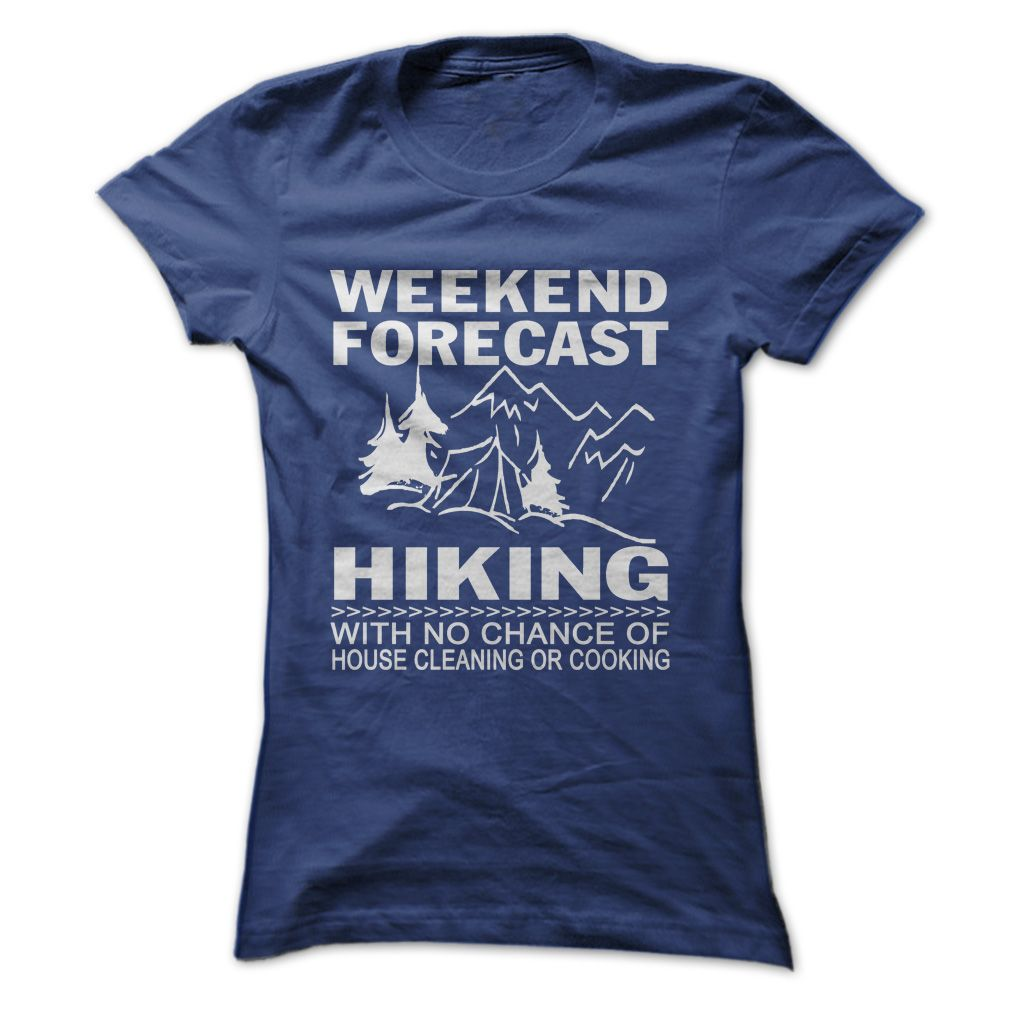 WEEKEND FORECAST HIKING T-SHIRT. Funny T Shirt Designs Funny Camping Shirts  Funny Rv