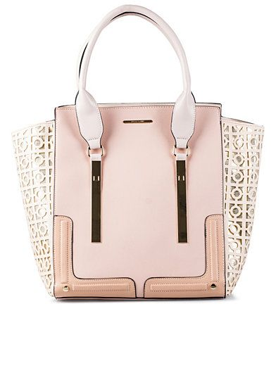 Lasercut Wing Tote - River Island - Pink - Bags - Accessories - Women - Nelly.com. We are huge fans of the pastel bag at the moment and this one has gorgeous details to boot.