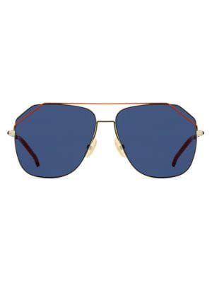148323b4f8f FENDI 58MM Squared Aviator Sunglasses.  fendi