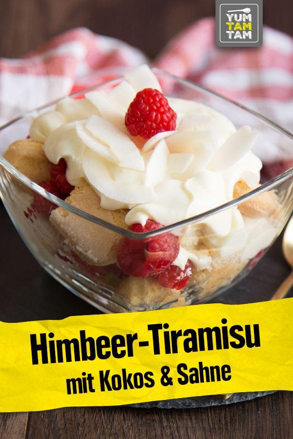 Himbeer-Tiramisu mit Kokos & Sahne