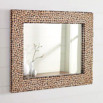 Cut twig mirror frame from West Elm. So pretty. | Home in 2018 ...