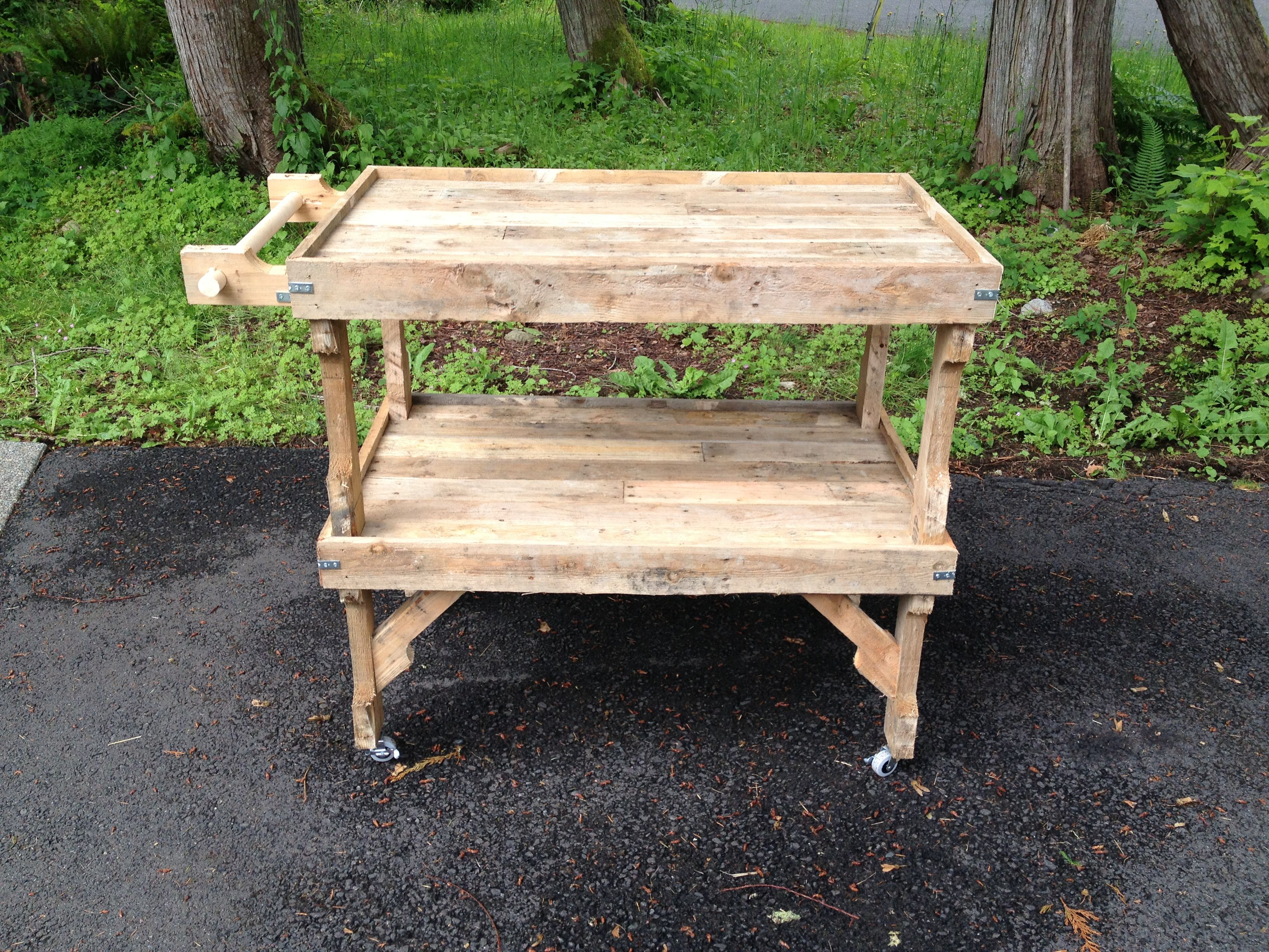 Pallet cart By C J Walk tools gardening pallets wood wood