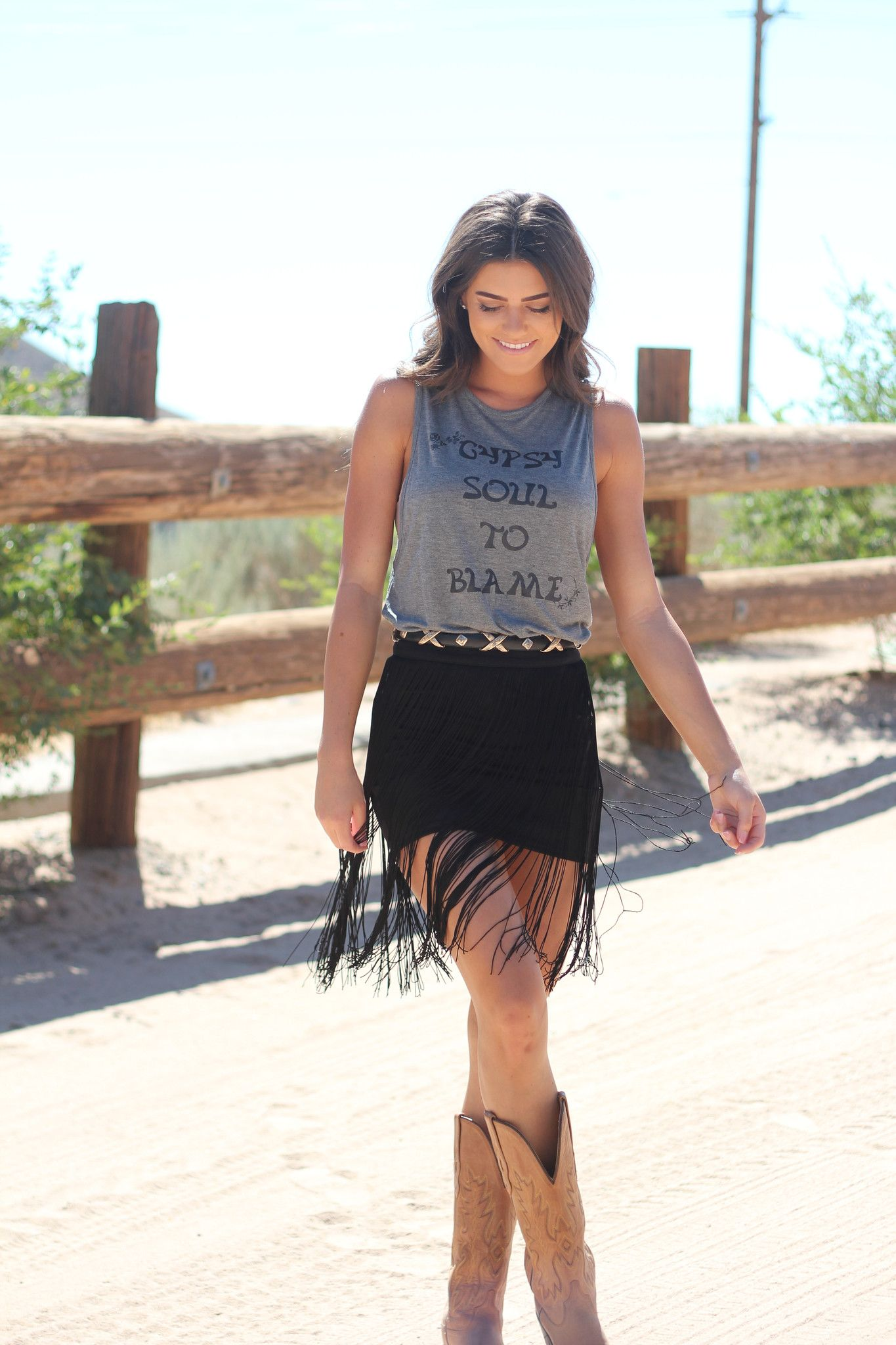 Gypsy Soul Tank Stagecoach Outfit