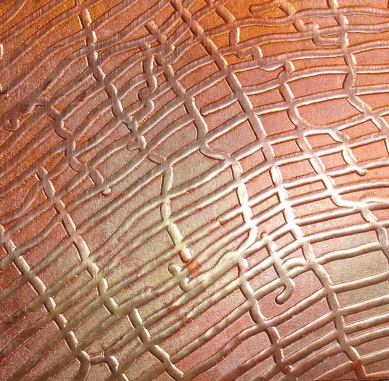 Textured Copper Sheet Metal Patina Copper Sheet Metal Spider Webs Design Orange Gold Pink Copper Glow 24 Gauge 6 X 2 C2 Estilos Manualidades Joyeria