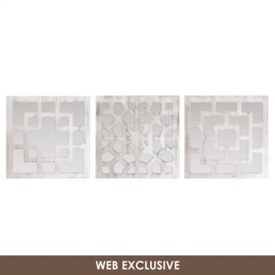 White Geo Wall Plaque Set Of 3 Wall Plaques Wall Wall