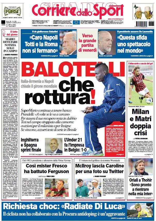 Il Corriere dello Sport Stadio (151013) Italian True