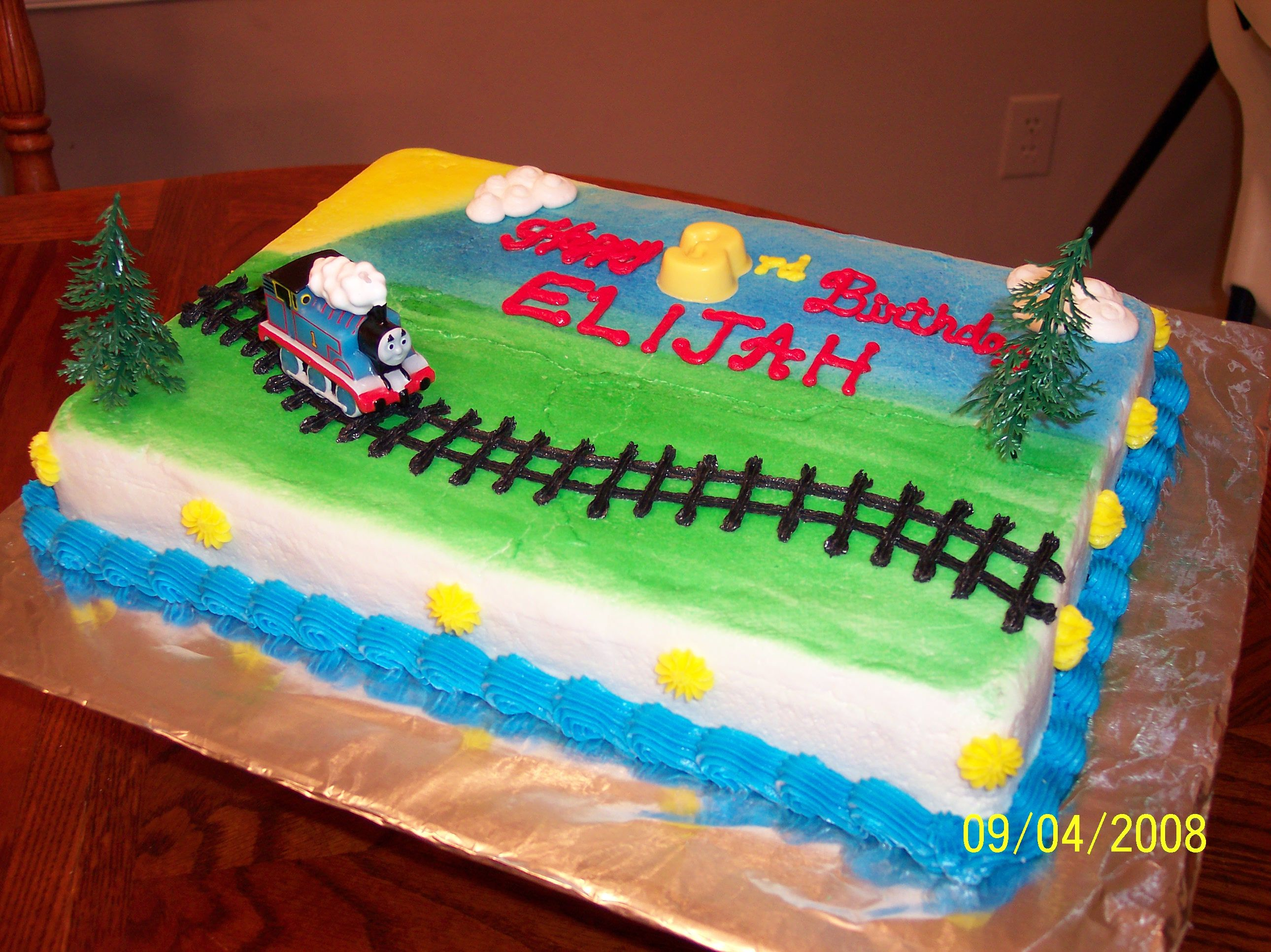 Excellent Thomas The Train Cake Feeds 20 25 With Images Train Birthday Funny Birthday Cards Online Sheoxdamsfinfo