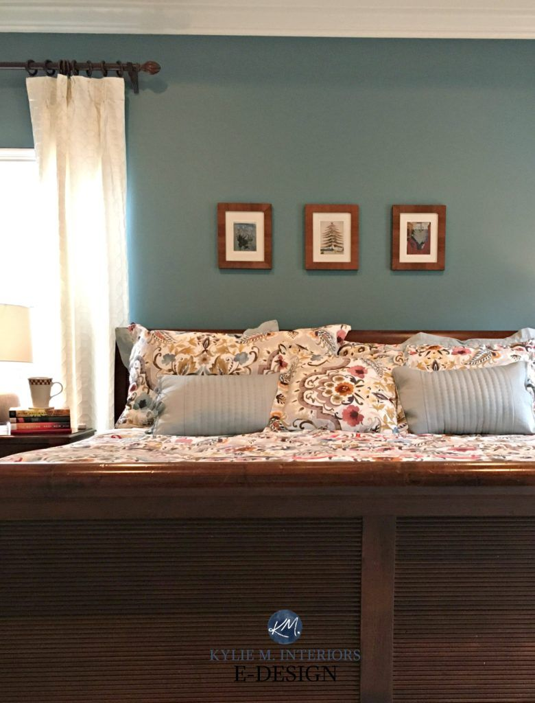Sherwin Williams Moody Blue With Cherry Wood Bedroom Furniture Kylie M E Design Online Paint Color Consultant