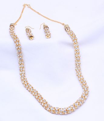 Antique gold plated designer necklace set for womens Shopping