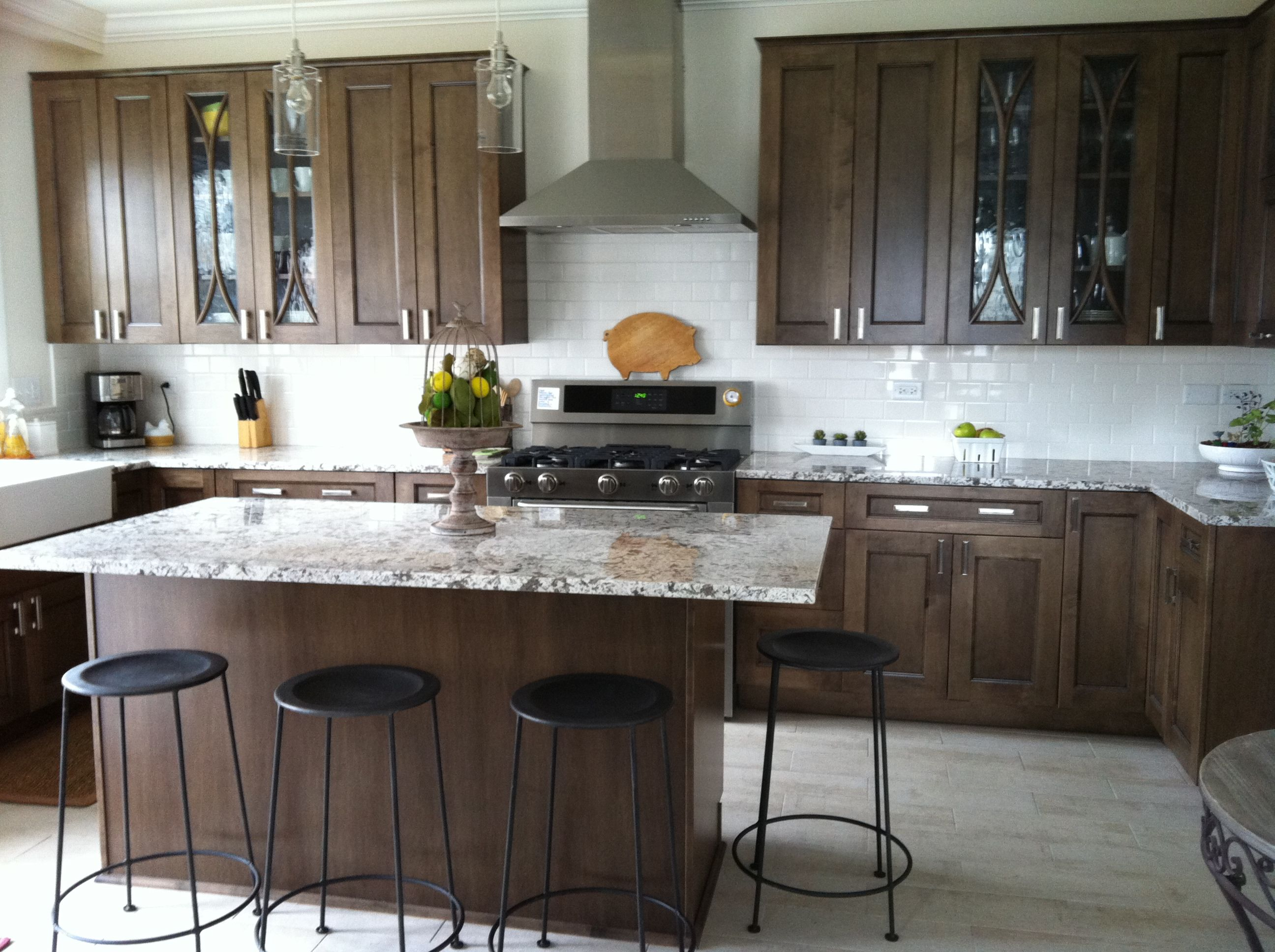 Eagle Rock Sable Glaze Innermost Cabinets Condo Remodel Kitchen