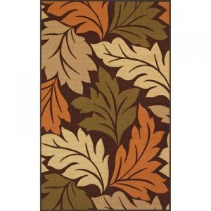 DALYN RUG COMPANY 3 PC. ESSENCE DESIGNER RUG SET - LEAVES. Includes 5x7, 17x27, 22x60 area rugs. Matching designs makes it easy to coordinate multiple areas in your home. 100% premium nylon pile. Printed pattern. Easy care materials.