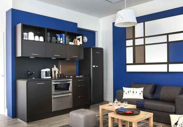 d coration int rieure nos id es pour optimiser l 39 espace petite cuisine ouverte cuisine. Black Bedroom Furniture Sets. Home Design Ideas