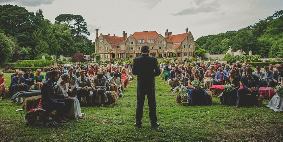 An International, Festival inspired, English Country House Wedding. Photography by Howell Jones.