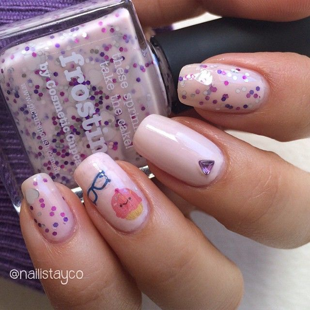 That S One Cool Cupcake Nails By Nailistayco Decals Used
