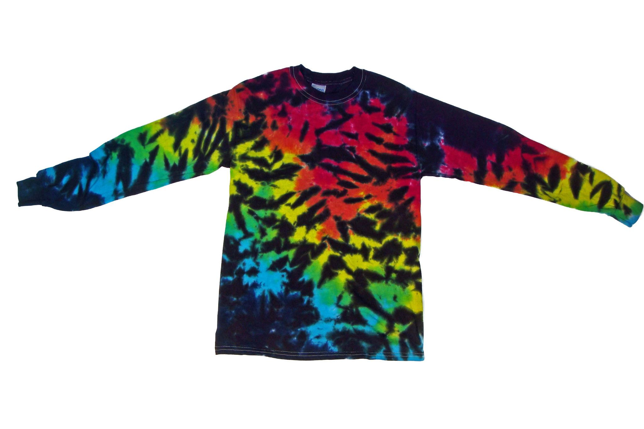 Long Sleeve Tie Dye Rainbow Tiger