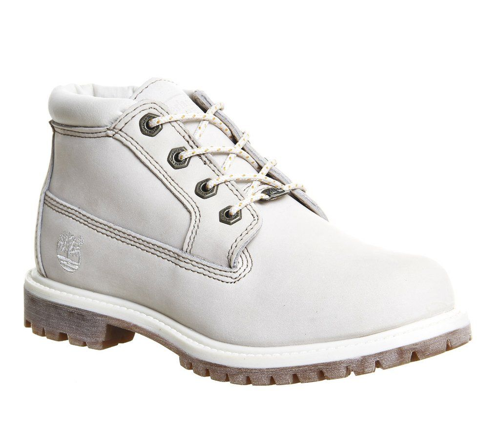 Timberland Waterproof Nellie Chukka Double Boots Off White For Women